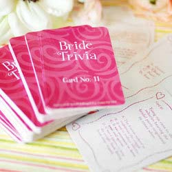 Bridal Shower Trivia Questions