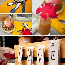 Fall Wedding Table Decorations Ideas