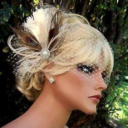 Bridal Fascinators With Veil