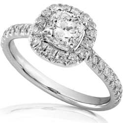 engagement rings cushion cut - Types Of Wedding Rings