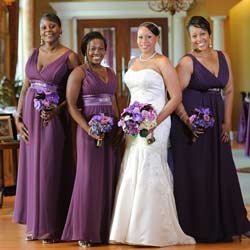 Deep purple bridesmaid dresses plus size trendy for Alternative plus size wedding dresses