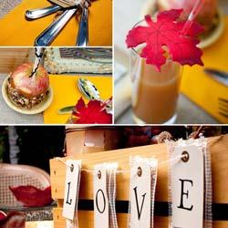 Fall Wedding Table Decorations Ideas