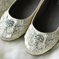 flat bridal shoes
