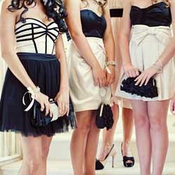 Black And White Bridesmaid Dresses